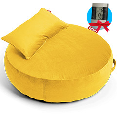Fatboy Pupillow Velvet Maize Yellow + Mteostanice zdarma